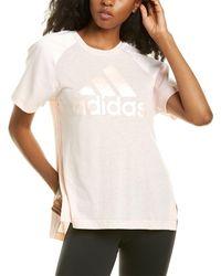 adidas Glam On Aeroready T-shirt - Pink