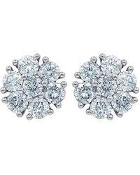 Diana M. Jewels . Fine Jewellery 18k 1.50 Ct. Tw. Diamond Earrings - Blue