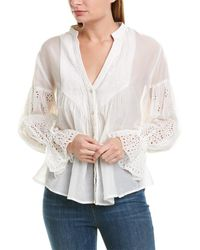 Johnny Was Silk-blend Blouse - White