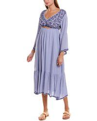 Raga Marrakesh Open Back Midi Dress - Blue