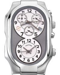 Philip Stein Chronograph Signature Watch - Metallic