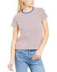 Velvet By Graham & Spencer Gidget Stripe T-shirt - Red