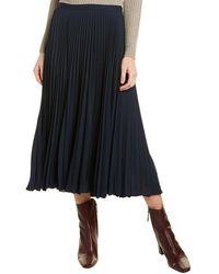 Vince Pleated Skirt - Blue