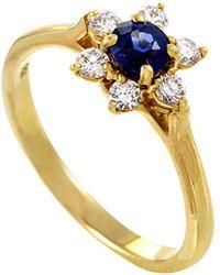 Heritage Tiffany & Co. - Tiffany & Co. 18k 0.65 Ct. Tw. Diamond & Sapphire Ring - Lyst