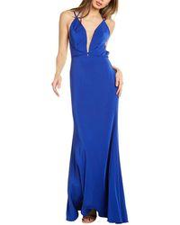 THEIA Mermaid Gown - Blue