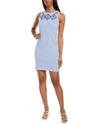 Joules Riva Printed Shift Dress - Blue