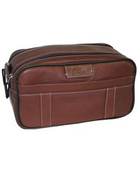 Dopp Country Saddle Soft Sided Multi-zip Travel Kit - Brown