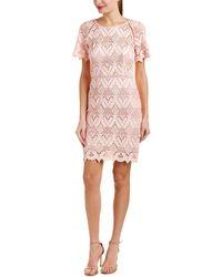 StyleStalker Elora Geometric Lace Dress - Pink