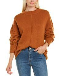 Autumn Cashmere Oversized Exposed Seams Cashmere & Wool-blend Jumper - Orange