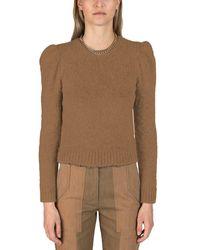 10 Crosby Derek Lam Locken Puff Sleeve Sweater - Brown