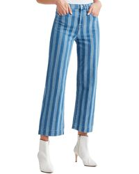 7 For All Mankind 7 For All Mankind Alexa Cropped Wide Leg - Blue