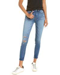 GOOD AMERICAN Good Legs Blue Crop Jean