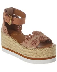 See By Chloé Platform Leather Wedges - Pink