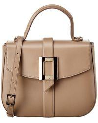 Roger Vivier Beau Leather Shoulder Bag - Natural