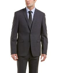 Ike Behar - Omega Slim Fit Wool-blend Suit With Flat Pant - Lyst