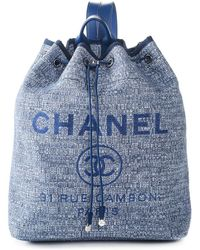 Chanel Textile Backpack, Nwt - Blue