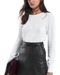 Reiss Bonita Jumper - White
