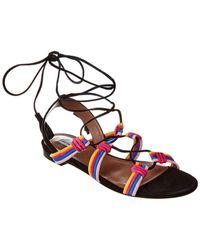 Tabitha Simmons Jax Suede Ankle-wrap Sandal - Black