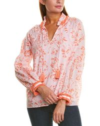 Sail To Sable Ruffle Neck Top - Pink
