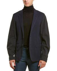 Lanvin Twill-sleeve Wool Jacket - Blue