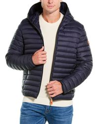 Save The Duck Hooded Puffer Jacket - Blue