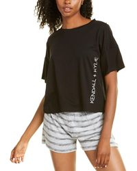 Kendall + Kylie Kendall + Kylie Dropped-shoulder T-shirt - Black