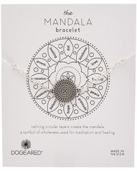 Dogeared Mandala Collection Silver Bracelet - Metallic
