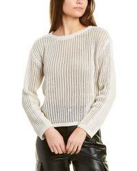 Club Monaco Mesh Knit Sweater - Natural