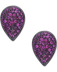 Socheec - Colour Stone Jewellery Silver 5.11 Ct. Tw. Gemstone Studs - Lyst