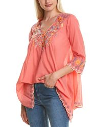Johnny Was Rosetta Tunic - Pink