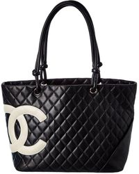 Chanel Black Leather Large Cambon Ligne Tote