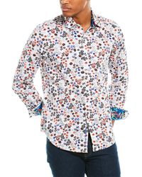 Robert Graham Dugan Classic Fit Woven Shirt - White