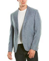 Original Penguin Slim-fit Linen-blend Sport Coat - Blue
