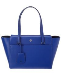 Tory Burch Parker Small Leather Tote - Blue