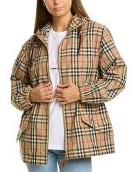 Burberry Vintage Check Hooded Jacket - Natural