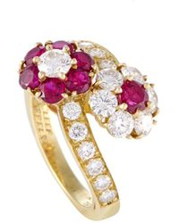 Van Cleef & Arpels Vintage Van Cleef & Arpels 18k 2.10 Ct. Tw. Diamond & Ruby Ring - Metallic