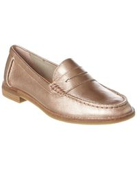 Sperry Top-Sider Seaport Leather Penny Loafer - Metallic