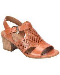 Comfortiva - Amber Perforated Block Heel Sandal - Lyst