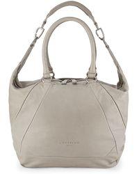 Liebeskind Berlin Bambesa Leather Hobo Bag - Grey