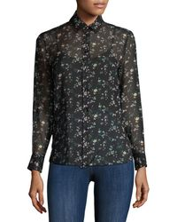 Saint Laurent - Star Spangled Silk Shirt - Lyst