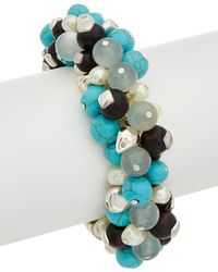 Robert Lee Morris - Mosaic Plated Turquoise Beaded Stretch Bracelet - Lyst