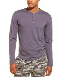 Monrow Henley Long-sleeve T-shirt - Grey