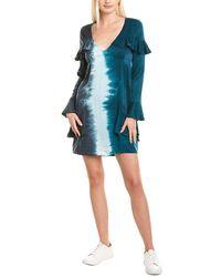 Chaser Ruffled Silk Mini Dress - Blue