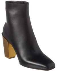 Ferragamo Women's Block Heel Ankle Booties - Black