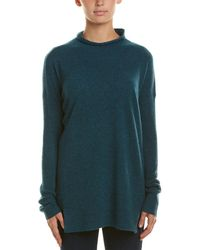 White + Warren Mock Neck Cashmere Sweater - Green