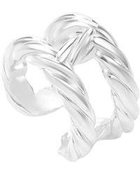 Hermès Textured Silver Ring - Metallic