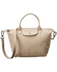 Longchamp Le Pliage Cuir Small Leather Short Handle Tote - Multicolour