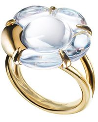 Baccarat - B Flower 18k Over Silver Crystal Ring - Lyst