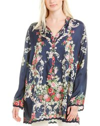 Johnny Was Hadley Silk Tunic - Blue