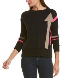 Lisa Todd Dropped-shoulder Cashmere-blend Sweater - Black